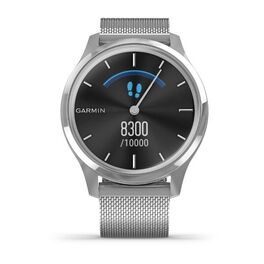 Часы с трекером активности Garmin VivoMove Luxe серебристый с серебристым ремешком (010-02241-23) #3