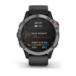 Мультиспортивные часы Garmin Fenix 6 Solar с GPS, серебристые с черным ремешком (010-02410-00) #5
