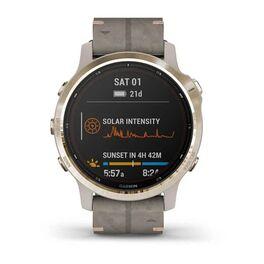 Мультиспортивные часы Garmin Fenix 6S Pro Solar GPS, золотист. с серым замш. ремешком (010-02409-26) #5