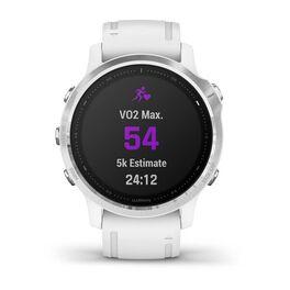Мультиспортивные часы Garmin Fenix 6S с GPS, серебристые с белым ремешком (010-02159-00) #7