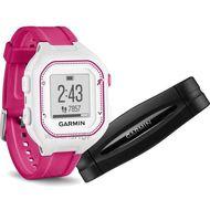 Спортивные часы Garmin Forerunner 25 White\Pink, small, BUNDLE (010-01353-71)