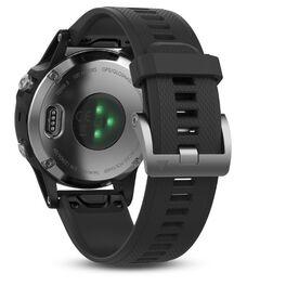 Мультиспортивные часы Garmin Fenix 5 с GPS, Glass, серебристые с черным ремешком (010-01688-03) #2