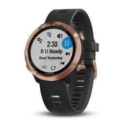 Спортивные часы garmin forerunner 645 music розовое золото с черным ремешком. Артикул: 010-01863-33