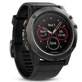 garmin fenix 5x sapphire часы с gps, серые с черным ремешком. Артикул: 010-01733-01