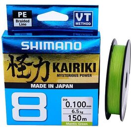 Леска плетёная shimano kairiki 8 pe 150м зеленая 0.215mm/20.8kg (59wpla58r06). Артикул: 59WPLA58R06