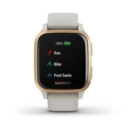 Смарт-часы Garmin Venu Sq NFC Music с золотистым безелем и песочным ремешком (010-02426-11) #4