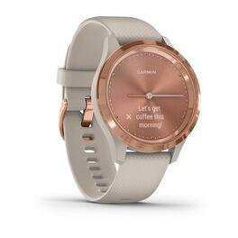Часы с трекером активности Garmin VivoMove 3S, розовое золото с песочным ремешком (010-02238-22) #2