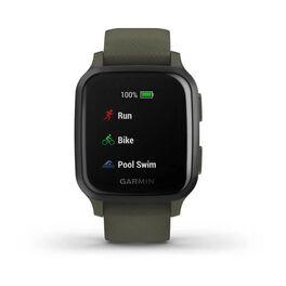 Смарт-часы Garmin Venu Sq NFC Music с серым безелем и темно-зеленым ремешком (010-02426-13) #4