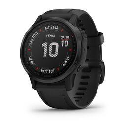 Мультиспортивные часы garmin fenix 6s pro с gps, черные с черным ремешком. Артикул: 010-02159-14