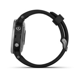 Мультиспортивные часы Garmin Fenix 5S PLUS Glass серебр. с черным ремешком (010-01987-21) #4