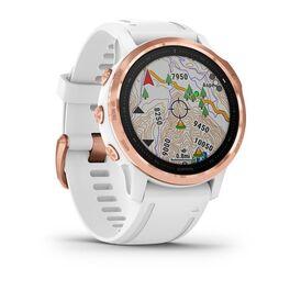 Мультиспортивные часы Garmin Fenix 6S PRO с GPS, розов.золото с белым ремешком (010-02159-11) #2