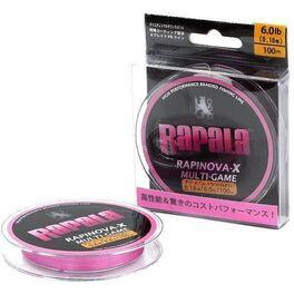 Леска плетеная rapinova-x multi game 100m #0.4/8.8lb/pink 0,10 мм (rlx100m04pk). Артикул: RLX100M04PK