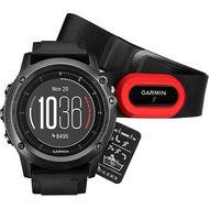 Навигатор-часы Garmin Fenix 3 Sapphire HR серый с черным силикон. браслетом HRM-Run (010-01338-74)
