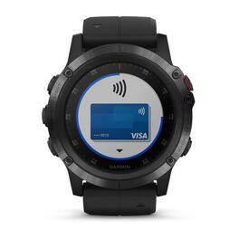 Мультиспортивные часы Garmin Fenix 5x PLUS Sapphire RUSSIA черные с черным ремешком (010-01989-11) #5