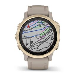 Мультиспортивные часы Garmin Fenix 6S Pro Solar GPS, золотистый с песочным ремешком (010-02409-11) #4