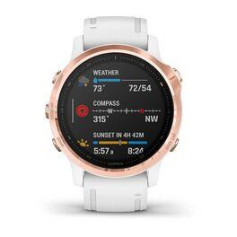 Мультиспортивные часы Garmin Fenix 6S PRO с GPS, розов.золото с белым ремешком (010-02159-11) #3