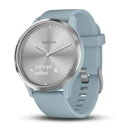 garmin vivomove hr cмарт-часы, серебристые с силиконовым ремешком. Артикул: 010-01850-08