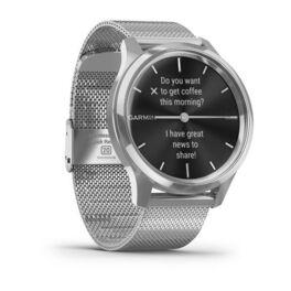 Часы с трекером активности Garmin VivoMove Luxe серебристый с серебристым ремешком (010-02241-23) #2