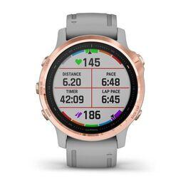 Мультиспортивные часы Garmin Fenix 6S Sapphire с GPS, розов.золото с серым ремешком (010-02159-21) #5