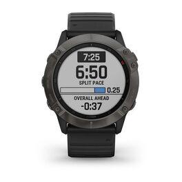 Мультиспортивные часы Garmin Fenix 6X Sapphire с GPS, серые с черным ремешком (010-02157-11) #1