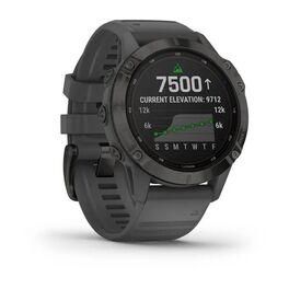 Мультиспортивные часы Garmin Fenix 6 Pro Solar с GPS, черный с серым ремешком (010-02410-11) #1