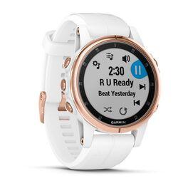 Мультиспортивные часы Garmin Fenix 5S PLUS Sapphire черные/роз.золото с бел. ремешком (010-01987-07) #2