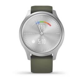 Часы с трекером активности Garmin VivoMove Style серебристый с травяным ремешком (010-02240-21) #6