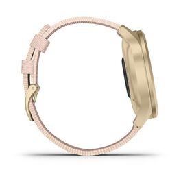 Часы с трекером активности Garmin VivoMove Style золотистый с роз. плетеным ремешком (010-02240-22) #4