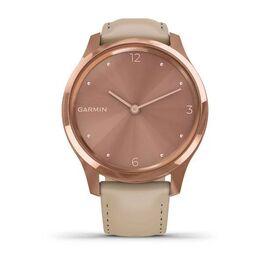 Часы с трекером активности Garmin VivoMove Luxe роз. золото PVD 18K с кожан. ремешком (010-02241-21) #1