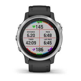 Мультиспортивные часы Garmin Fenix 6S с GPS, серебристые с черным ремешком (010-02159-01) #5