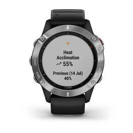 Мультиспортивные часы Garmin Fenix 6 с GPS, серебристые с черным ремешком (010-02158-00) #6