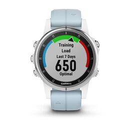 Мультиспортивные часы Garmin Fenix 5S PLUS Glass серебр./черн. с голуб. ремешком (010-01987-23) #5