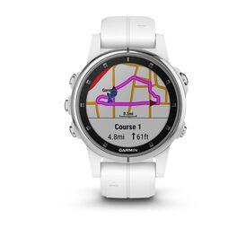 Мультиспортивные часы Garmin Fenix 5S PLUS Sapphire белые с белым ремешком (010-01987-01) #1
