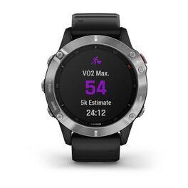 Мультиспортивные часы Garmin Fenix 6 с GPS, серебристые с черным ремешком (010-02158-00) #7