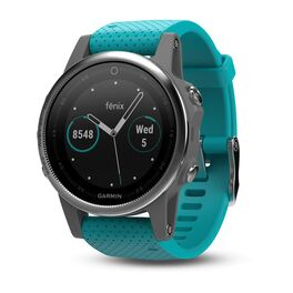 Спортивные часы garmin fenix 5s серебристые с бирюзовым ремешком Garmin. Артикул: 010-01685-01