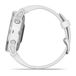 Мультиспортивные часы Garmin Fenix 6S с GPS, серебристые с белым ремешком (010-02159-00) #9