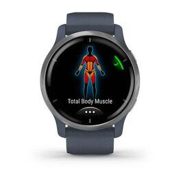 Смарт-часы Garmin Venu 2, Wi-Fi, GPS, синий гранит с силиконовым ремешком (010-02430-10) #4