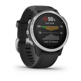 Мультиспортивные часы Garmin Fenix 6S с GPS, серебристые с черным ремешком (010-02159-01) #2