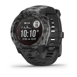 Защищенные gps-часы garmin instinct solar, цвет graphite camo. Артикул: 010-02293-05