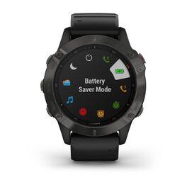Мультиспортивные часы Garmin Fenix 6 Sapphire с GPS, серые с черным ремешком (010-02158-11) #6