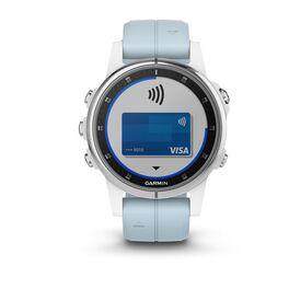 Мультиспортивные часы Garmin Fenix 5S PLUS Glass серебр./черн. с голуб. ремешком (010-01987-23) #3