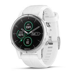 garmin fenix 5s plus sapphire часы с gps белые с белым ремешком. Артикул: 010-01987-01
