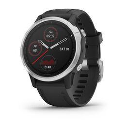 Мультиспортивные часы garmin fenix 6s с gps, серебристые с черным ремешком. Артикул: 010-02159-01