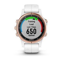 Мультиспортивные часы Garmin Fenix 5S PLUS Sapphire черные/роз.золото с бел. ремешком (010-01987-07) #4