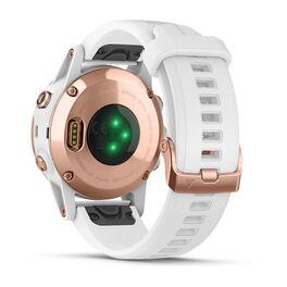 Мультиспортивные часы Garmin Fenix 5S PLUS Sapphire черные/роз.золото с бел. ремешком (010-01987-07) #5