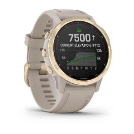 Мультиспортивные часы Garmin Fenix 6S Pro Solar GPS, золотистый с песочным ремешком (010-02409-11) #1