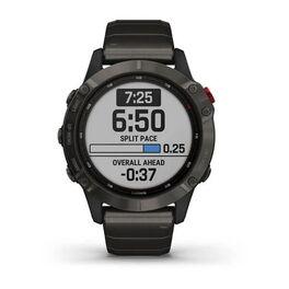 Мультиспортивные часы Garmin Fenix 6 Pro Solar с GPS, титан. DLC титан.ремешком (010-02410-23) #2