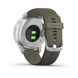 Часы с трекером активности Garmin VivoMove Style серебристый с травяным ремешком (010-02240-21) #5