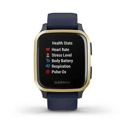 Смарт-часы Garmin Venu Sq NFC Music с золотистым безелем и синим ремешком (010-02426-12) #7