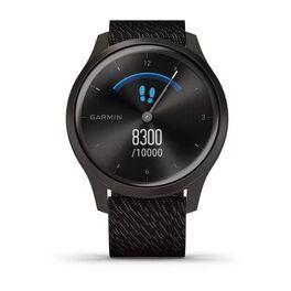 Часы с трекером активности Garmin VivoMove Style графит с плетеным черн. ремешком (010-02240-23) #2